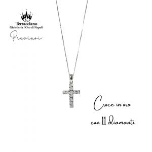 Croce in oro con Diamanti