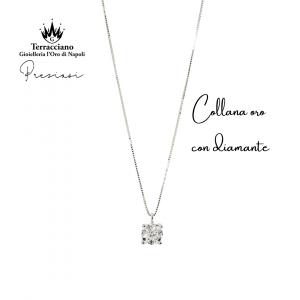 Collana in oro con Punto Luce di Diamante