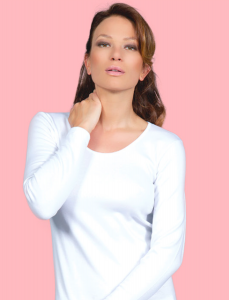 Maglie donna caldo cotone manica lunga scollo liscio MA.RE.