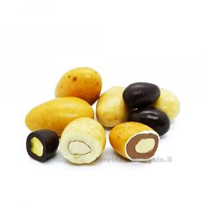 Confetti Mix cioccolato con cuore di mandorla e pistacchio 100gr William Di Carlo Sulmona - Italy