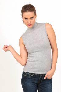 Lupetto smanicato da donna in cotone elasticizzato BASIC COTTON