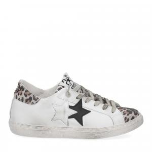 2Star 2807 sneaker bianco maculato-2