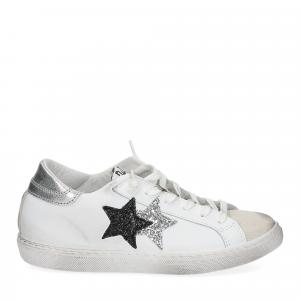 2Star 2814 sneaker bianco glitter nero-2