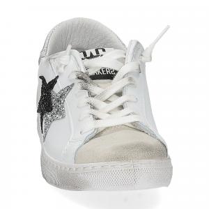 2Star 2814 sneaker bianco glitter nero-3