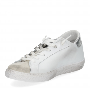 2Star 2814 sneaker bianco glitter nero-4