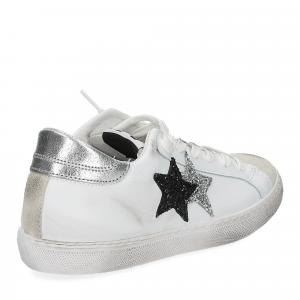 2Star 2814 sneaker bianco glitter nero-5