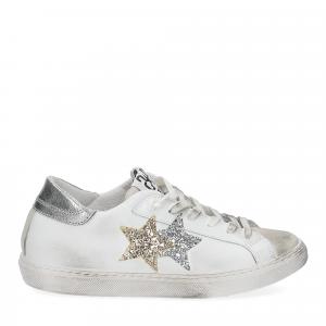 2Star 2817 sneaker bianco glitter oro-2
