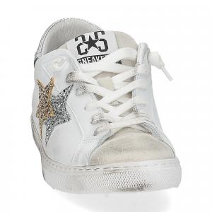 2Star 2817 sneaker bianco glitter oro-3