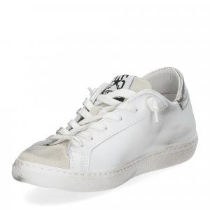 2Star 2817 sneaker bianco glitter oro-4