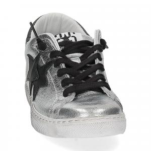 2Star 2818 sneaker argento nero-3