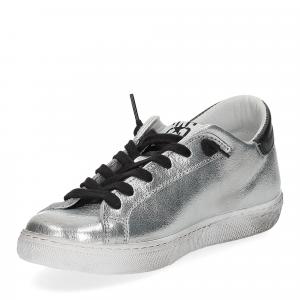 2Star 2818 sneaker argento nero-4