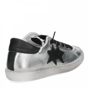 2Star 2818 sneaker argento nero-5