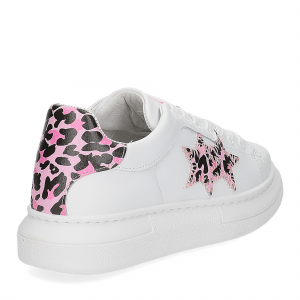 2Star Elettra 013 sneaker bianco maculato rosa-5