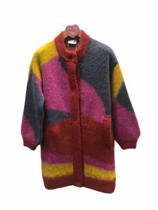 Cappotto in maglia colorato