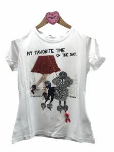 T-shirt stampa barboncino