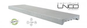 Imer coprimuro evolutone in cemento levigato bianco 19cm(larghezza interna)x100cm