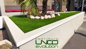 Imer coprimuro evolutione in cemento levigato bianco 32cm(larghezza interna)x100cm