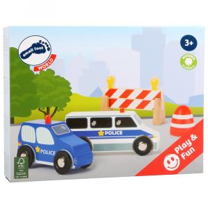 Set Polizia Controllo stradale Accessori trenino legno Small Foot World
