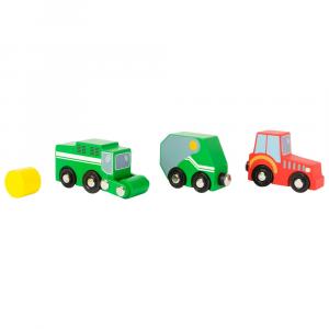 Set veicoli fattoria Accessori trenino legno Small Foot World