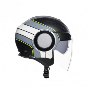 Casco AGV Orbyt Brera Black/Grey/Yellow-Fluo
