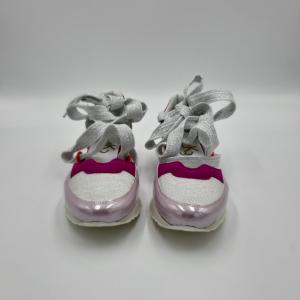 Sandalo a sneaker rosa e bianco L4k3