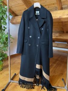 Cappotto bicolore con frange Vicolo