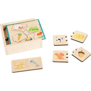 Gioco didattico Puzzle di legno Animali che mangiano