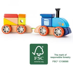 Costruzione in legno Ferrovia Gioco per bambini