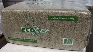 Paglia di lino ECOflax per lettiera animali. Balle da 20 kg