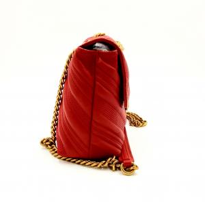 Tracolla classic logo bag puff chevron in pelle trapuntata Pinko