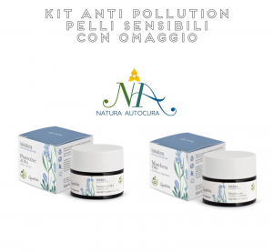 Kit Anti Pollution Pelli Sensibili CON OMAGGIO inserisci il CODICE: KITNATURAUTOCURA IN OMAGGIO il Bagnoschiuma Flowers and Fruits 200 ml