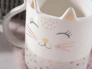 Tazza gatto in ceramica con dettagli in oro vero (714079)