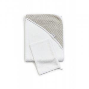 Accappatoio per neonato Bagno Duo Soft Stone Pearl Grey
