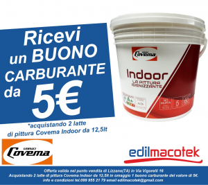 Covema indoor idropittura igienizzante traspirante resistente alle muffe coprente bianca 12,5lt