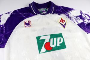 1993-94 Fiorentina Maglia Match Worn Away #7 Tedesco XL  (Top)