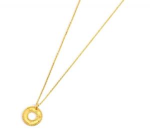 Marlù Collana Vision, pendente tondo Gold - Ø 1,5 cm