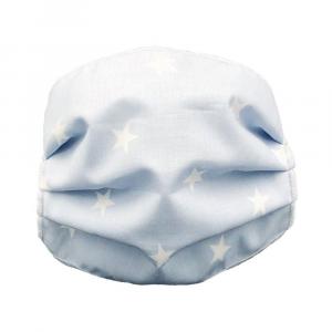 Mascherina lavabile Bambino Stelle Andy & Helen - Azzurro-Bianco