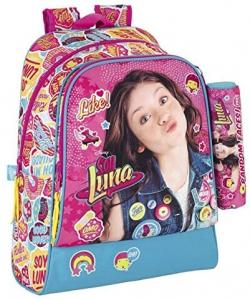 Zaino Soy Luna Scuola dim. 33x42x14 cm con Astuccio Disney