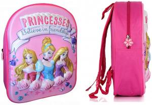Zaino Principesse 3D colore rosa/fuxia dim. 31x27x10 cm