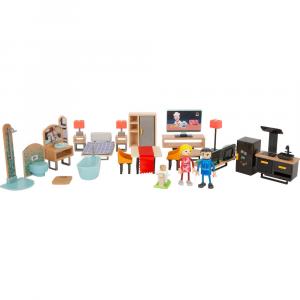 Set di mobili casa delle bambole moderno
