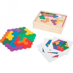 Gioco didattico Puzzle in legno Esagono
