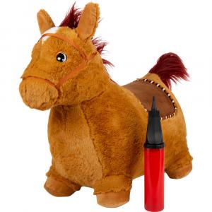 Cavallo per saltare in peluche