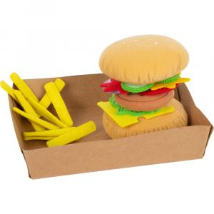Hamburger di stoffa con patatine
