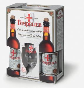 Birra Corsendonk Templier Conf. 2 Bott. CL.33+1 Bicchieri