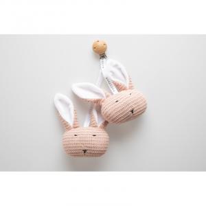 Coniglietti con clip in legno