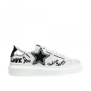 Sneakers Gisele pelle bianca - GIO+