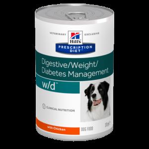 Hill's - Prescription Diet Canine - w/d - 370g x 12 lattine