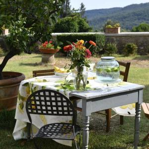 Tovaglia Tessitura Toscana Telerie puro lino Limoncello