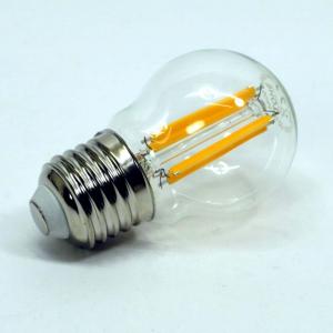 Lampada sfera led trasparente 6w luce calda e27