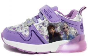 Scarpe Bambina Frozen II con luci a LED 24 25 26 27 28 29 30 31 32 Disney Autunno Inverno